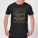 Jurassic Park Clever Girl Men's Christmas T-Shirt - Black