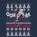 Rick and Morty Ooh Wee Men's Christmas T-Shirt - Navy