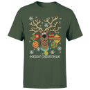 Scooby Doo Men's Christmas T-Shirt - Forest Green