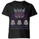 Decepticons Classic Ugly Knit Kids' Christmas T-Shirt - Black