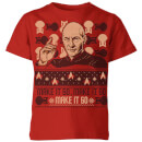Star Trek: The Next Generation Make It So Kids' Christmas T-Shirt - Red