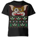 Gremlins Ugly Knit Kids' Christmas T-Shirt - Black
