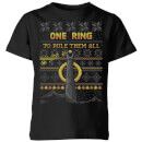 Lord Of The Rings One Ring Kids' Christmas T-Shirt - Black