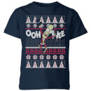 Rick and Morty Ooh Wee Kids' Christmas T-Shirt - Navy
