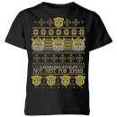 Bumblebee Classic Ugly Knit Kids' Christmas T-Shirt - Black