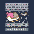 Pusheen Through The Snow Women's Christmas T-Shirt - Navy