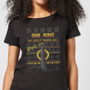 Lord Of The Rings One Ring Women's Christmas T-Shirt - Black