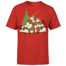 Tobias Fonseca Good Night Xmas Bear Men's T-Shirt - Red