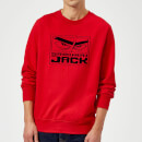 Samurai Jack Stylised Logo Sweatshirt - Red