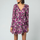 ROTATE Birger Christensen Women's Nancy Floral Dress - Cherry Flower