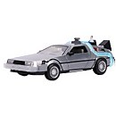 Jada Back to the Future: Part II Die Cast 1:24 DeLorean Time Machine with Working Lights