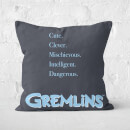 Gremlins Poster Square Cushion