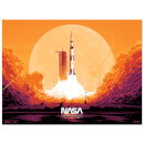 Vibrant Apollo 11 Launch Screen Print