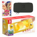 Nintendo Switch Lite (Yellow) Pokémon Shield Pack