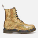 Dr. Martens Women's 1460 Pascal Iridescent Crackle 8-Eye Boots - Gold