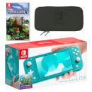 Nintendo Switch Lite (Turquoise) Minecraft Pack