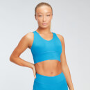 MP Women's Power Longline Sports Bra - Sea Blue - L