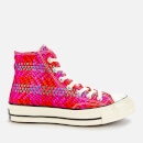 Converse Women's Chuck 70 Hi-Top Trainers - Cherry Red/Pink Pop/Egret