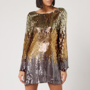 RIXO Women's Aria Dress - Bronze Ombre Sequin