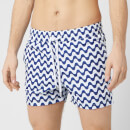 Frescobol Carioca Men's Copacabanana Sports Swim Shorts - Navy Blue