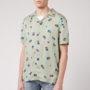 Nudie Jeans Men's Arvid Random Dots Short Sleeve Shirt - Pale Green