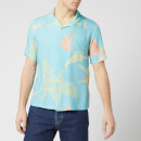 Edwin Men's Resort Shirt - Angel Blue Birds of Paradise