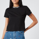 Tommy Jeans Women's Branded Neck T-Shirt - Black
