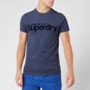 Superdry Men's Core Faux Suede T-Shirt - Princedom Blue Marl