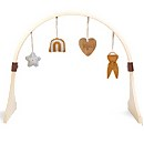 The Little Green Sheep Curved Baby Play Gym and Charms Set - Rainbow Honey