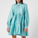Stine Goya Women's Jasmine Tiered Mini Dress - Aqua