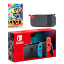 Nintendo Switch (Neon Blue/Neon Red) ARMS Pack