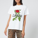 Ganni Women's Rose T-Shirt - White
