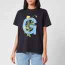 Ganni Women's Logo Flower T-Shirt - Black