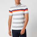 Superdry Men's Horizon Stripe Jersey Polo Shirt - Grey Grit Stripe