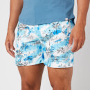 Orlebar Brown Men's Bulldog Nick Turner Illustration Swim Shorts - Blue