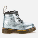 Dr. Martens Toddlers' 1460 Crinkle Metallic Lace-Up 4 Eye Boots - Teal