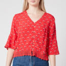 Superdry Women's Sunny Lace Top - Red Ditsy