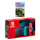 Nintendo Switch (Neon Blue/Neon Red) Minecraft Pack