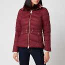 Barbour International Women's Halfback Quilt Fur Collar Coat - Port