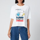 Levi's X Peanuts Women's Graphic Boxy T-Shirt - Snoopy Torch Runner
