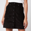 Maison Kitsuné Women's Alma Buttoned Skirt - Black