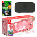 Nintendo Switch Lite (Coral) Luigi's Mansion 3 Pack