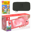 Nintendo Switch Lite (Coral) Super Mario Maker 2 Pack