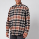 Our Legacy Men's Above Plaid Shirt - Brown