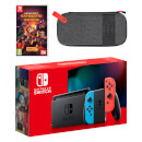 Nintendo Switch (Neon Blue/Neon Red) Minecraft Dungeons - Hero Edition Pack