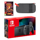 Nintendo Switch (Grey) Minecraft Dungeons - Hero Edition Pack