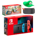 Nintendo Switch (Neon Blue/Neon Red) Mario Kart Live: Home Circuit - Luigi Set Pack