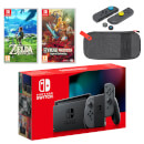 Nintendo Switch (Grey) The Legend of Zelda Double Pack