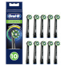 Oral-B CrossAction Toothbrush Head Black, CleanMaximiser Technology, 10 Counts, Mailbox Sized Pack