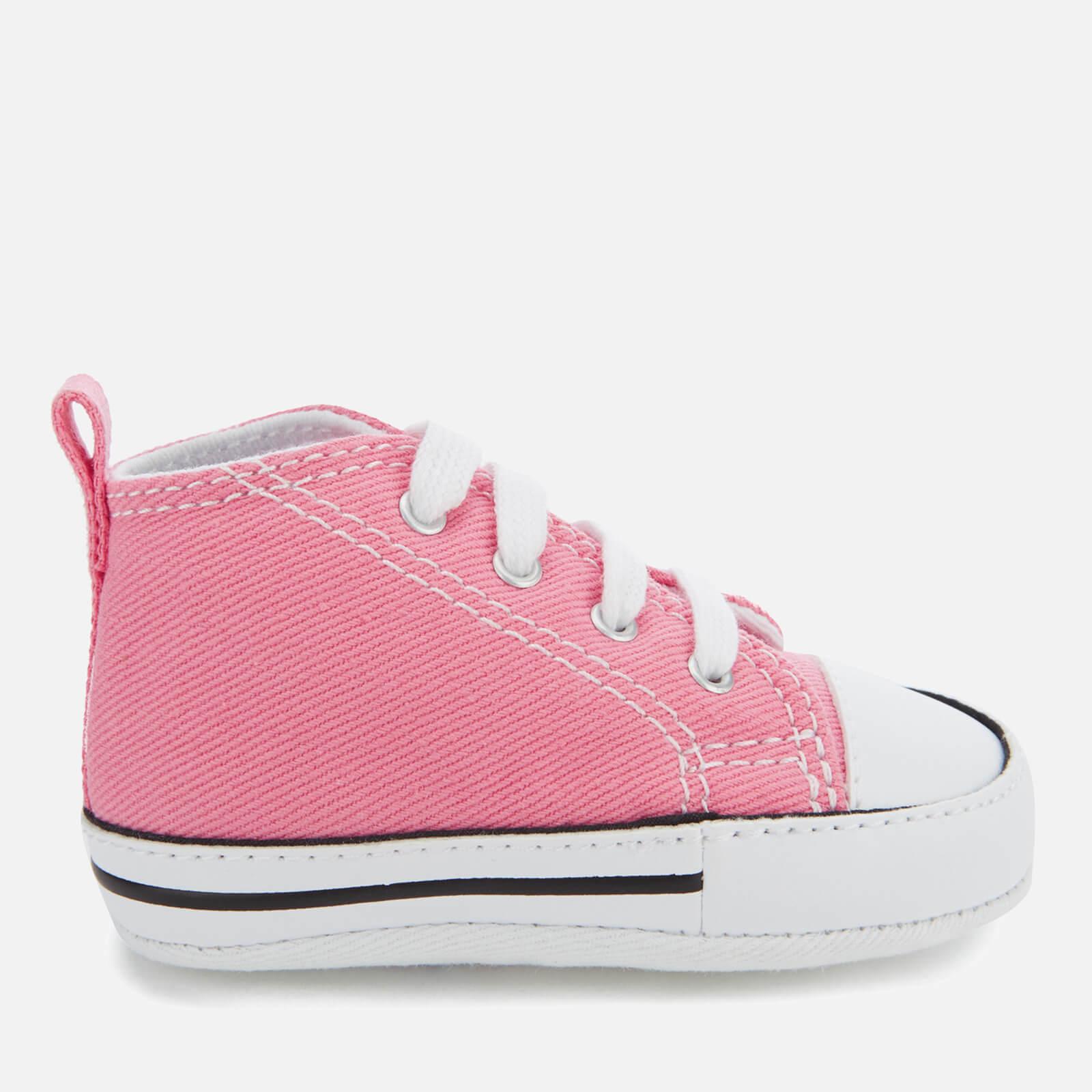 Inmersión Retirarse marca  Converse Babies Chuck Taylor First Star Hi-Top Trainers - Pink | TheHut.com